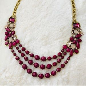 Magenta statement necklace